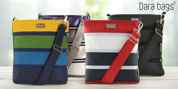 Klasické koženkové kabelky Dariana Middle