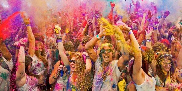 Vstupenka na šíleně barevný Holi Open Air Festival