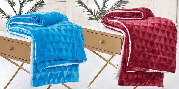 Teplá deka z imitace jehněčí vlny ve 4 barvách