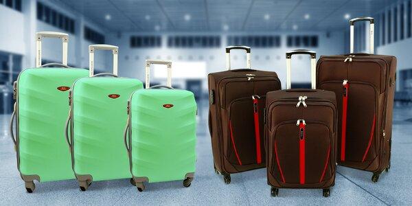 Sady kufrů na kolečkách: cestovní i skořepinové