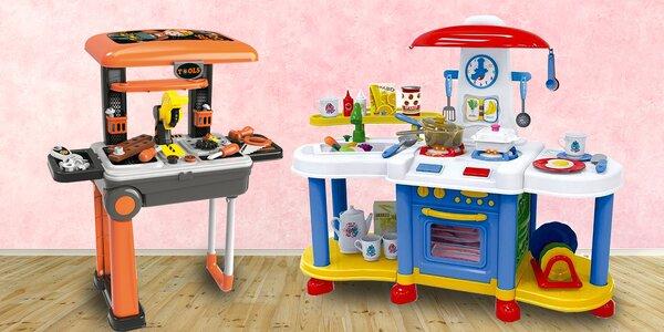 Dětské kuchyňky, kufr s nářadím i doktorský kufřík