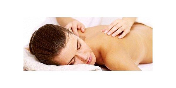 Klasická masáž zad, šíje a ramen Latté olejem