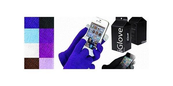 iGloves – rukavice pro dotykové displeje v růžové a černé barvě