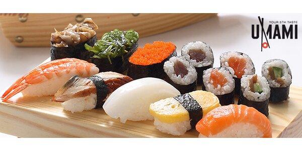 Bohaté sushi menu pro 3 v nově otevřené restauraci Umami