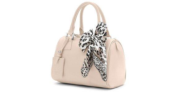 Dámská krémová kufříková kabelka Belle & Bloom s ozdobným šátkem