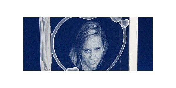Valentýnská 2D laser skleněná fotografie vč. poštovného