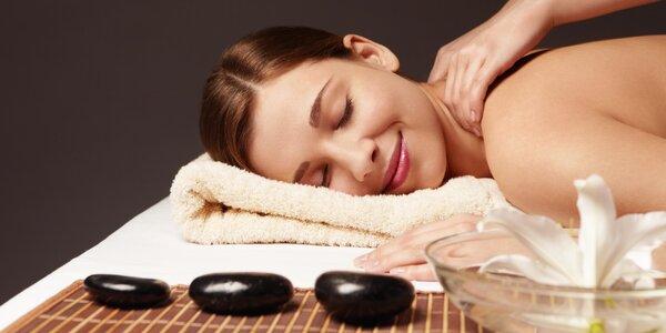 Klasická masáž zad a šíje i lávové kameny