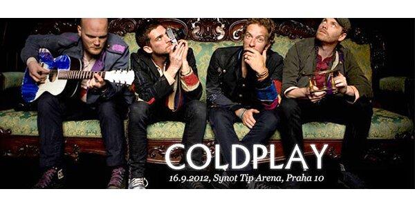 VIP vstup na koncert skupiny Coldplay včetně cateringu