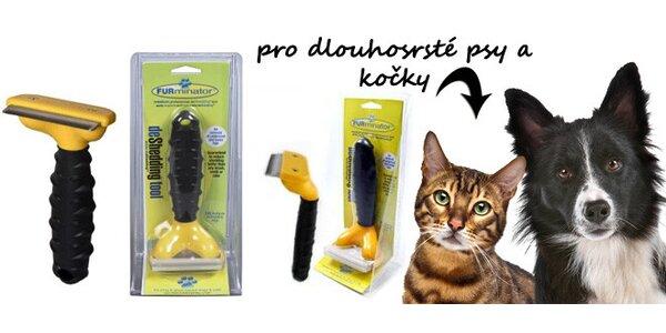 Kvalitní kartáč pro péči o srst dlouhosrstých psů i koček