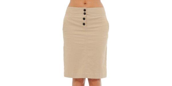 Dámská světle béžová sukně Tommy Hilfiger