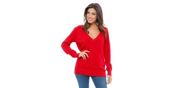 Dámský červený svetr Tommy Hilfiger se třpytkami