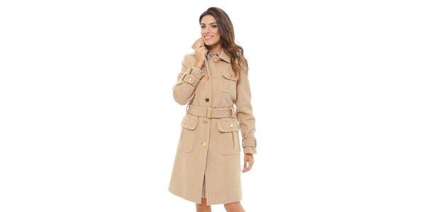 Dámský kabát Tommy Hilfiger s velbloudím chlupem
