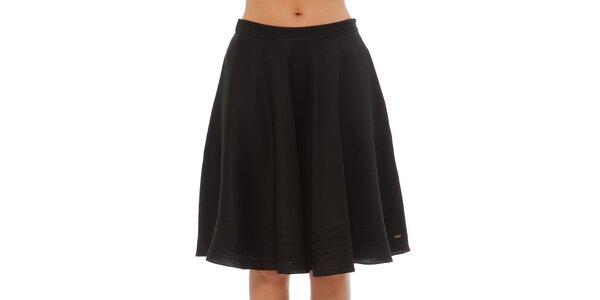 Dámská černá nabíraná sukně Tommy Hilfiger