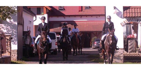 Projížďka na koni v renomované jezdecké škole nedaleko od Prahy!
