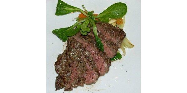 Luxusní steakové menu s dezertem pro dva