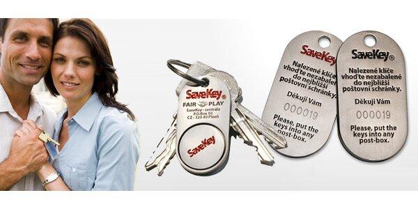 JEDEN přívěsek SaveKey - systém pro vaše ztracené klíče
