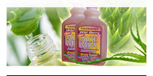 2 litry přírodní Aloe Vera šťávy Wild Berry