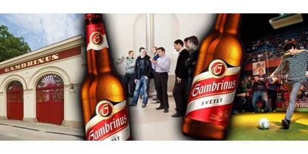 Zážitková prohlídka pivovaru Gambrinus plus jídlo a pití