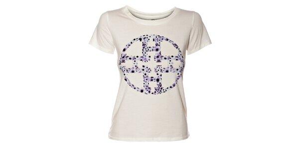 Dámské krémové tričko Hope s potiskem