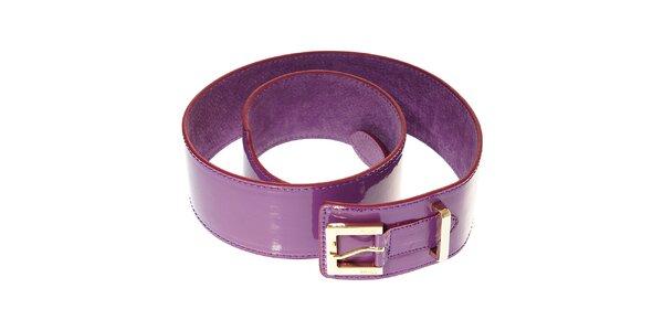 Dámský fialkový lakovaný pásek Hope se zlatou sponou