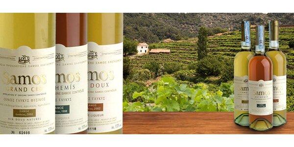TŘI exkluzivní vína z řeckého ostrova Samos
