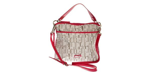 Dámská šedo-růžová kabelka Elle