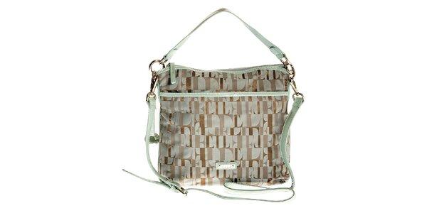 Dámská šedo-zelená kabelka Elle