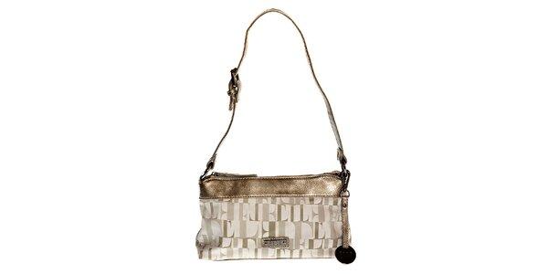 Malá šedo-broznová kabelka Elle přes rameno