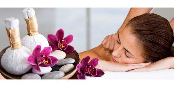 80minutová masáž celého těla bylinnými měšci a olejová masáž