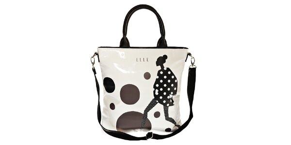 Dámská bílá taška Elle na laptop s potiskem