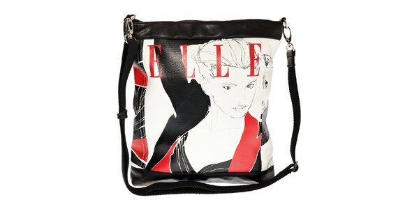 Dámská bílá kabelka Elle s potiskem