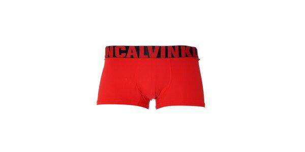Pánské boxerky z mikrovlákna značky Calvin Klein v červené barvě