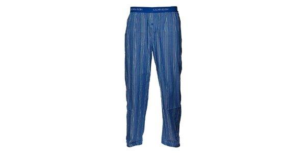 Pánské světe modré proužkované pyžamové kalhoty Calvin Klein