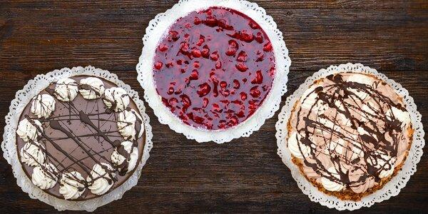 3 druhy lahodných dortů z cukrárny Pod kaštany