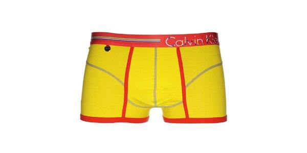 Pánské veselé svítivě žluté boxerky Calvin Klein