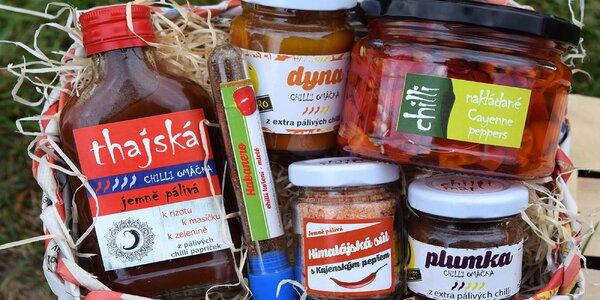 Dárkové chilli koše: omáčky i sušené papričky