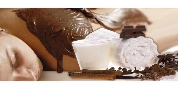 Čokoládová masáž a zábal zad pro krásnou pokožku