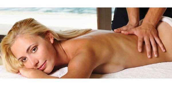 50 minut intenzivní sportovní masáže zad a šíje