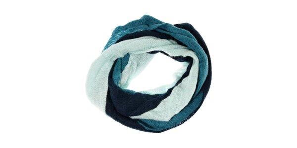 Dámský vrstvený šál Fraas v tyrkysově modrých barvách