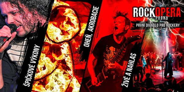 Vstupenky na hudební představení v RockOpeře