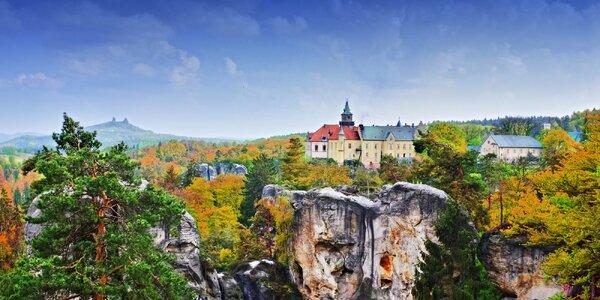 Pobyt na zámku Hrubá Skála s wellness a polopenzí
