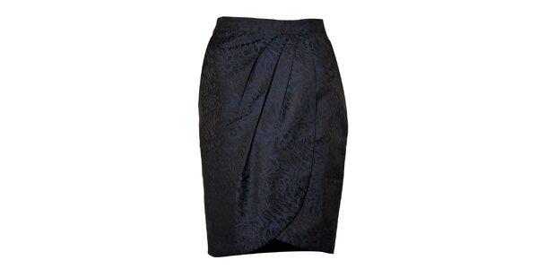 Dámská tmavě modrá pouzdrová sukně Miss Sixty se zvířecím vzorem