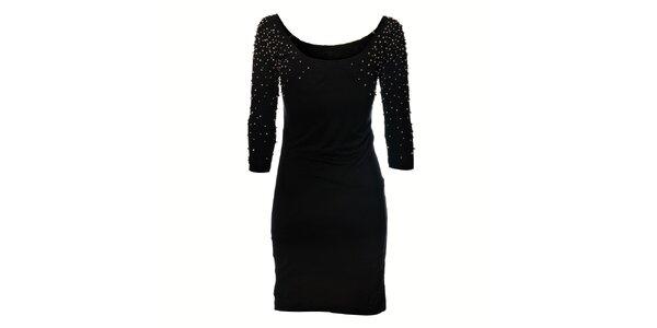 Černé šaty Miss Sixty s kovovými aplikacemi