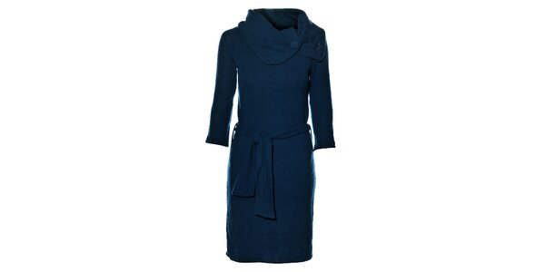 Dámské tyrkysově modré pletené šaty Miss Sixty