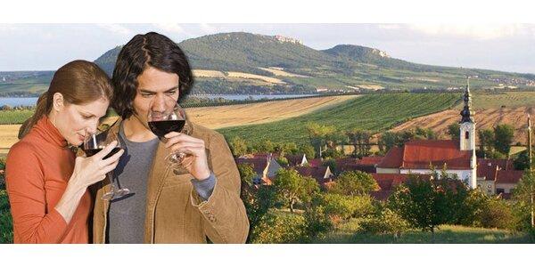 3denní pobyt pro DVA na Jižní Moravě s ochutnávkou vín