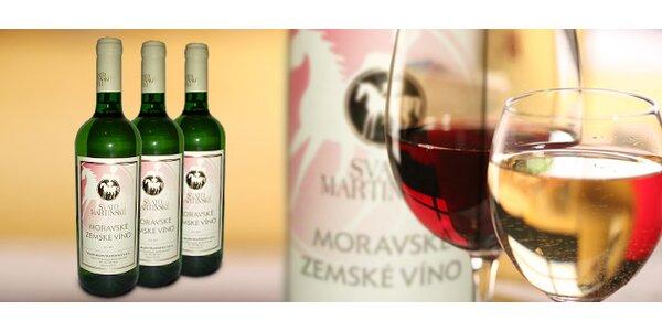 TŘI Svatomartinská vína včetně doručení