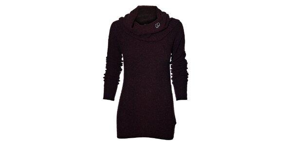 Dámský tmavě fialový svetr Miss Sixty s límcem