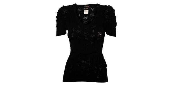 Dámský černý pletený top Miss Sixty s krátkým rukávem