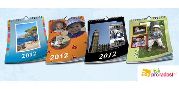 Velký nástěnný kalendář z vlastních fotek