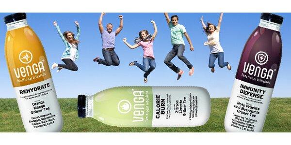 4 funkční nápoje Venga pro lepší soustředění a energii